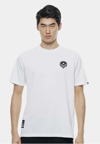 Private Stitch white Oversize T-Shirt In White with Front Badge Design PR777AA81MSSMY_1