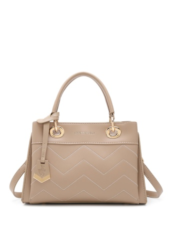 Swiss Polo beige Zig Zag Quilted Shoulder Bag 12911ACB0D4D8DGS_1