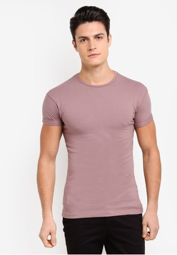 Topman purple Short Sleeve Purple 8B699AA4CB1B2BGS_1