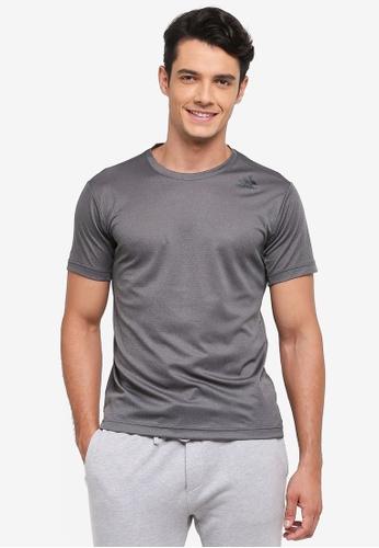 adidas 灰色 短袖訓練T恤 51FE4AAF2FCD69GS_1