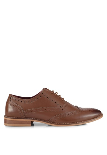 ACUTO brown Wingtip Leather Dress Shoes AC283SH0SL73MY_1