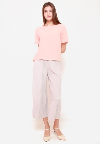 Sophialuv pink Chiffon Me Away Top in Rose 1BFD5AA3628A81GS_1