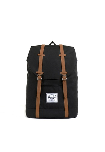 Herschel black Herschel Retreat Backpack (Black) - 19.5L FEA31AC14E59F1GS_1