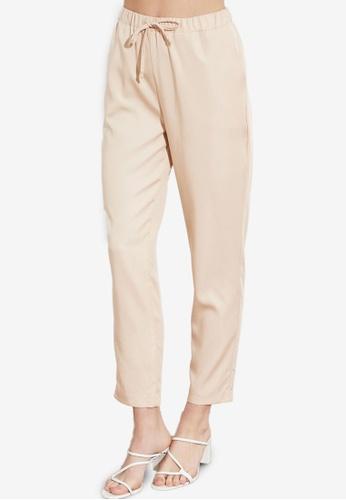 Trendyol beige Jogger Waist Tencel Trousers 60C06AA10B4AEBGS_1