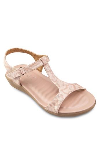 T字帶楔形跟涼鞋, zalora 包包評價女鞋, 鞋