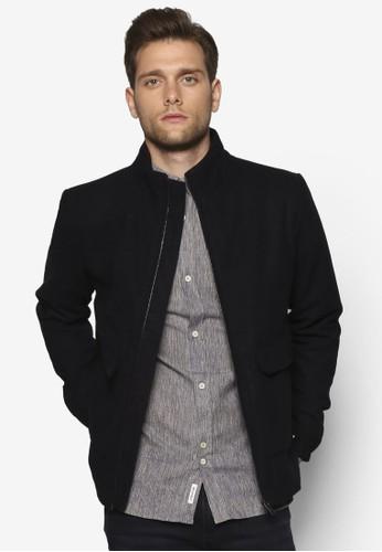 羊毛混esprit outlet 高雄紡哈靈頓外套, 服飾, 服飾