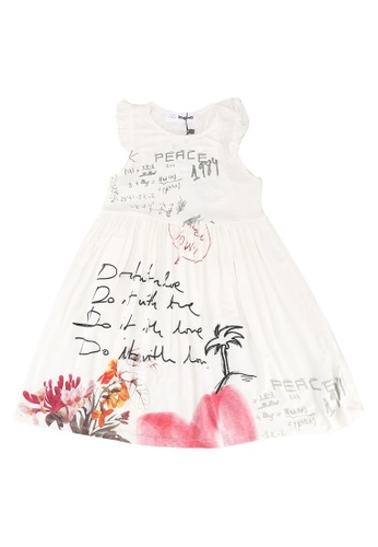 Desigual white Karen Message Dress E6F8DKA38C109CGS_1