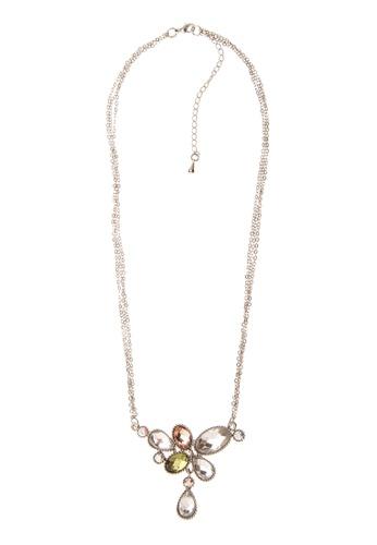 Luxor Jewelry silver Teardrop Stones Pendant Necklace LU858AC11VDCPH_1