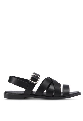 Something Borrowed 黑色 交叉繞帶涼鞋 2F0D8SHD0FF410GS_1