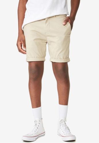 Cotton On 灰色 Washed Chino Shorts 8EF5FAADF7FFA1GS_1