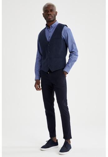 DeFacto navy Slim Fit Vest F4A58AA21DDDA3GS_1