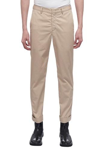 CK CALVIN KLEIN beige Elevated Chino Crop Cuff Pants 6E94CAAA91B1DDGS_1