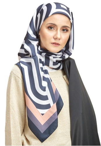 TODAY PASTEL black Night Bloom Luxury Square Scarf Printed 88912AABAC208AGS_1