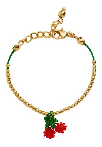 MANGO KIDS gold Beaded Cord Bracelet 1BF65KC9F5E562GS_1