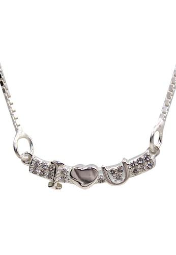 Venice Jewelry silver I Love You Necklace VE564AC98KMJPH_1