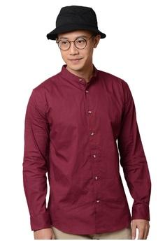 37e7e5dfe9248 Praise red Stand Collar Long Sleeves Shirt 779C6AA5443290GS 1