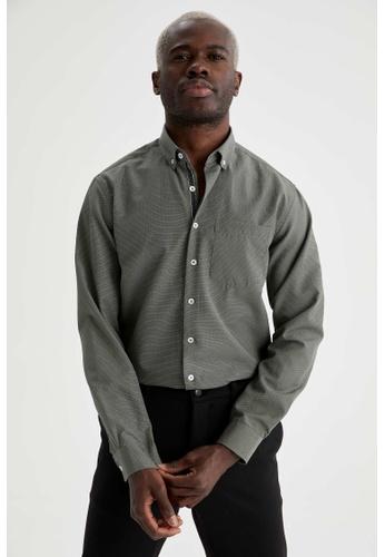 DeFacto green Long Sleeve Shirt 68B9CAAB3BB134GS_1