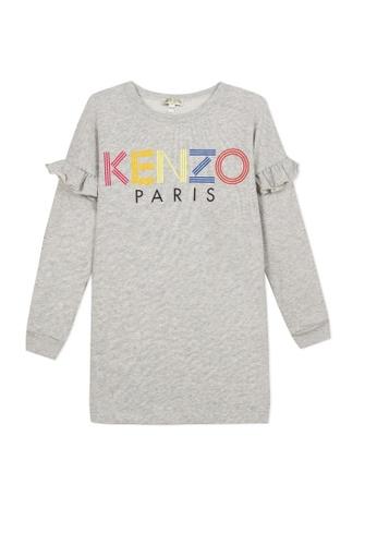KENZO KIDS grey KENZO GIRLS DRESS 325F5KA8AFF77EGS_1