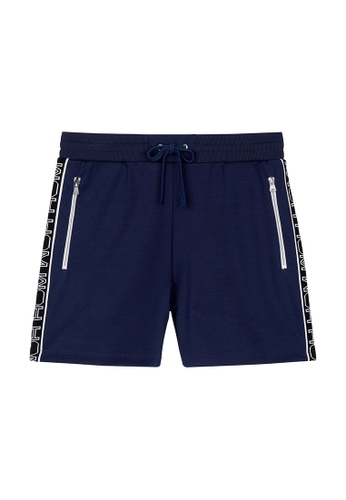 HOM blue and navy Julien Sweat Shorts - Peacock Blue 17AF4AA4E11AC8GS_1