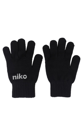 niko and ... black Print Gloves AD31BAC87F24D2GS_1