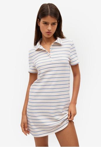 Mango white Striped Cotton Dress 189C4AA66E9109GS_1