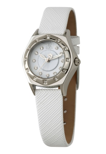 CLETA white and silver Manta Ray Watch CL733AC89FTQPH_1