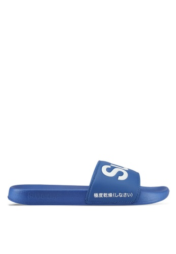 Superdry white and blue Superdry Pool Slide 1A2C7SH983102BGS_1