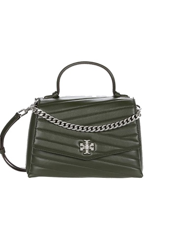 TORY BURCH green Tory Burch Kira Chevron Top Handle Satchel Poblano 61674 D265BAC1120C8AGS_1