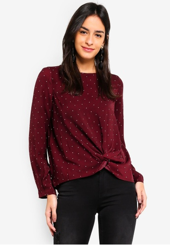 Vero Moda red Stanly Knot Top 277E2AAF85C214GS_1