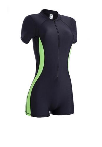 Twenty Eight Shoes black VANSA Plus Size Long Sleeves Diving Swimsuit  VCW-Sw3011 C72C0US1941DF2GS_1