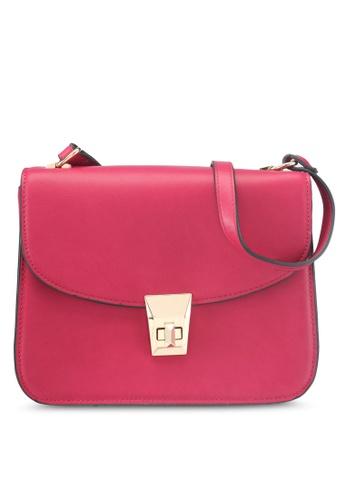 Mango pink Pebbled Cross-Body Bag 7E2C3ACF39DD3FGS_1