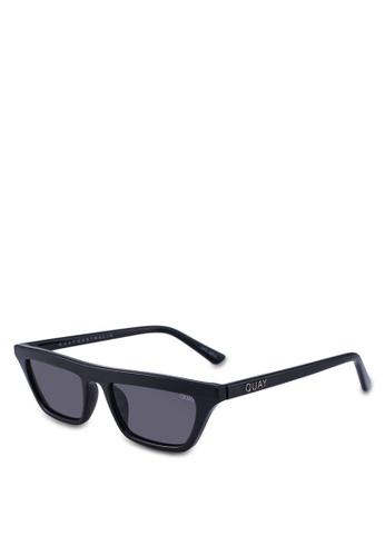 Quay Australia black Finesse Sunglasses 0B4ABGLF6A41A5GS_1