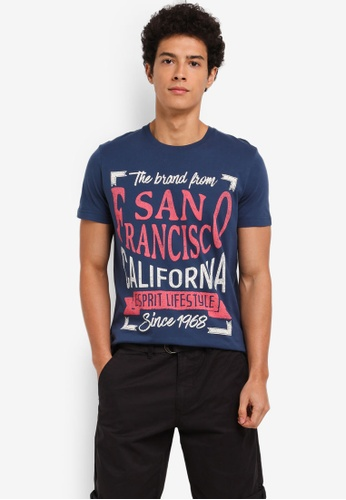 ESPRIT blue Short Sleeve T-Shirt 273DAAA05FE5BDGS_1