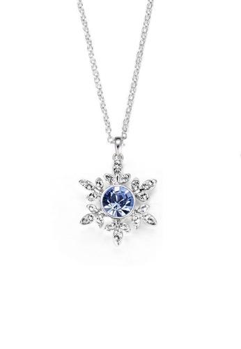 ADORA blue Swarovski Flower Pendent Necklace 6079DAC2385E03GS_1