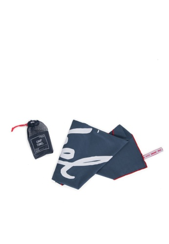 Herschel blue Herschel Camp Towel Navy/Red A57A6AC7C69498GS_1