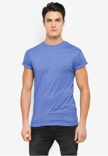 Topman multi Ss Bright Blue Snp T-Shirt TO413AA0T1ITMY_1