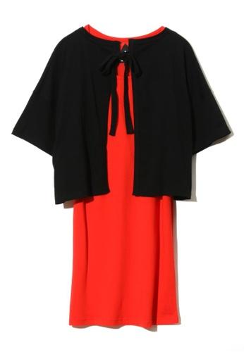 """Mini cream black """"Hawaii"""" printed cloak and dress 9B703AA75B0270GS_1"""