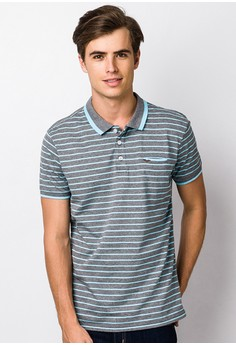 Cvc Stripes Single Jersey Polo