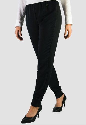 Zaryluq black Cuffed Pants in Whisper Black 54DC3AA8C2B736GS_1