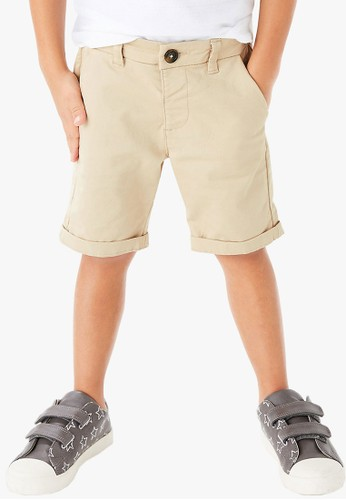 MARKS & SPENCER beige Cotton Rich Chino Shorts 92BB6KA86211B1GS_1