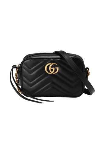 Gucci black Gucci Gg Marmont Matelasse Mini Crossbody Bag in Black DB9C4ACED0C68AGS_1