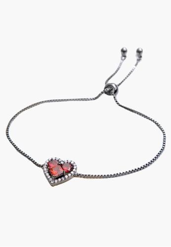 Trendyshop red CZ Heart Shape Bracelets 8B2A4AC5D57D8FGS_1