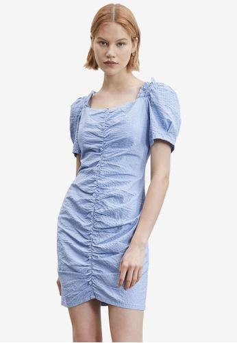 URBAN REVIVO blue Casual Dress 9478EAA180F71DGS_1