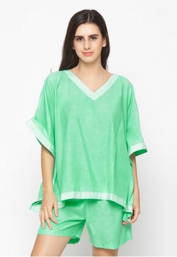 Impression green Pajamas Sherrie Set 9114 EACD2AA3F0FE2CGS_1