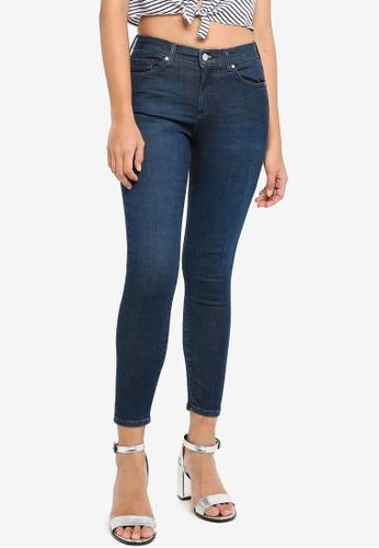 TOPSHOP blue Petite Indigo Leigh Jeans 868DAAA2341D62GS_1