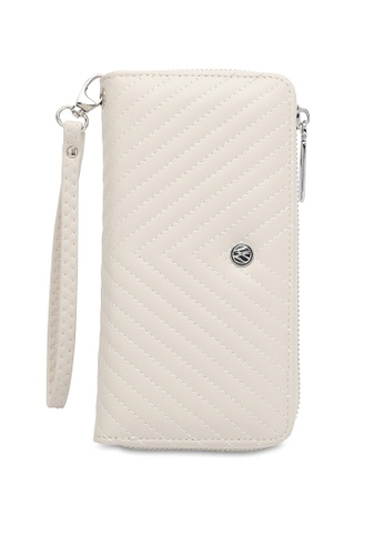 Volkswagen white Faux Leather Long Wallet 83A07ACD0334D6GS_1
