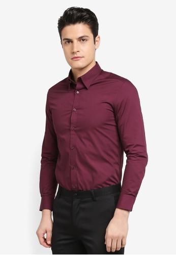G2000 red Poplin Long Sleeve Shirt 0ED2AAAEA511E8GS_1