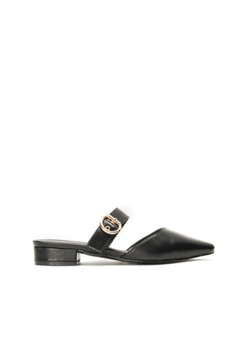 SEMBONIA black SEMBONIA Synthetic Leather Mules (Black) DC939SHC975CA0GS_1