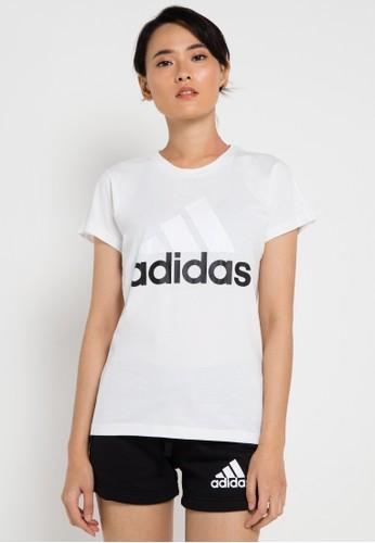 adidas white adidas essentials linear slim tee AD349AA0UM5OID_1