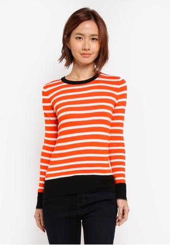 WAREHOUSE orange Breton Block Stripe Jumper 9BF76AA8D1E0B9GS_1